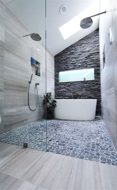 impressive pebble flooring ideas    check
