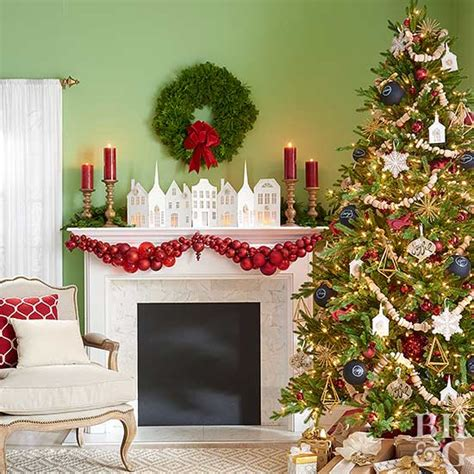 decorate  mantel  christmas