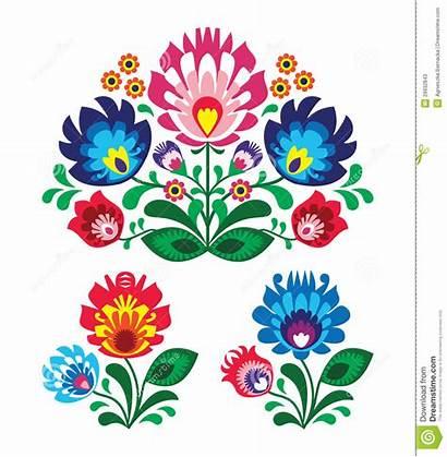 Pattern Embroidery Folk Polish Floral Traditional Poland