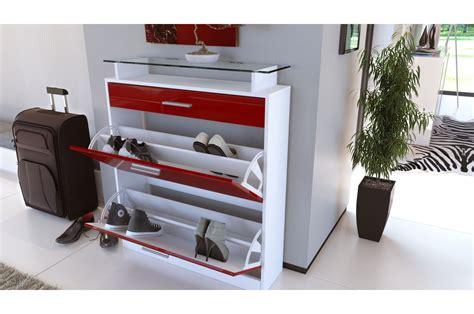 meuble chambre blanc laqué meuble chaussures design laqué blanc trendymobilier com