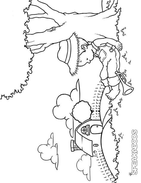 coloring pages  boy blue speakaboos worksheets