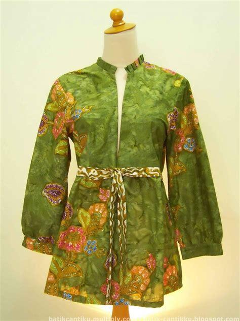 contoh model baju batik wanita terkini style pinterest