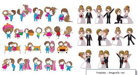 desain kartun pernikahan lucu