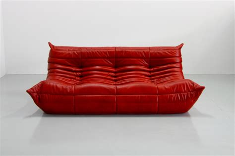 canape ligne roset vintage leather togo sofa by michel ducaroy for ligne