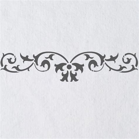 Muster Schablonen by Wall Stencils Border Stencil Pattern 067 Reusable Template