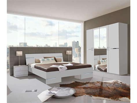 chambre complète coloris blanc et chrome vente de