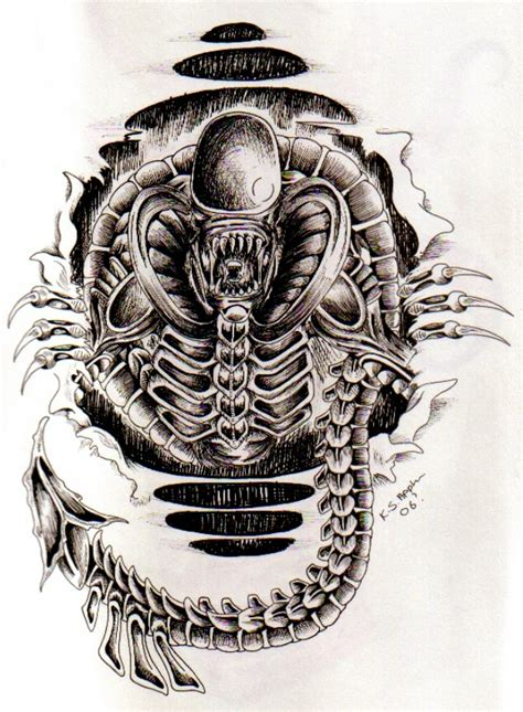 alien tattoo  nathaldron  deviantart