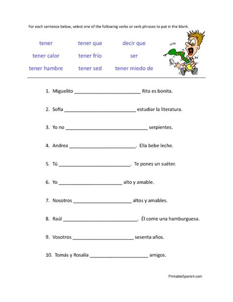 Go Verbs Worksheets  Printable Spanish