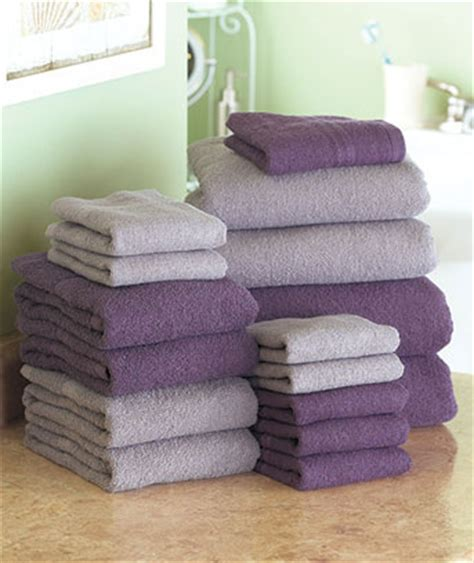 Purple Decorative Towel Sets by New 16 Pc Bath Towels Set Chocolate Blue Or Plum