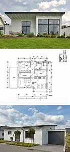 Garage Mit Pultdach : bungalow haus grundriss mit garage und pultdach architektur einfamilienhaus bauen massivhaus ~ Orissabook.com Haus und Dekorationen