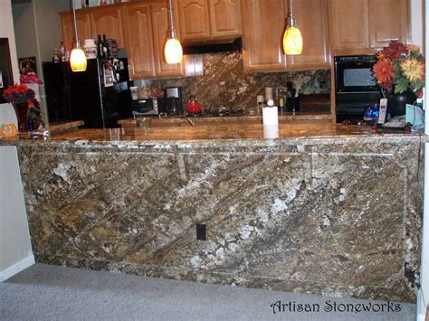 granite slab bar wall counter and corbels from artisan
