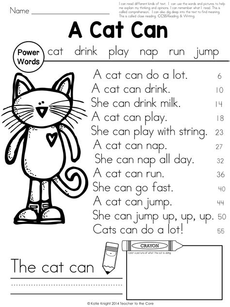 First Grade Reading Fluency Worksheets Worksheets For All  Download And Share Worksheets Free