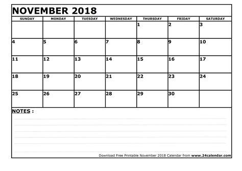 blank november calendar printable format