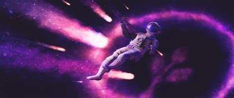 astronaut ultra wide space space art science