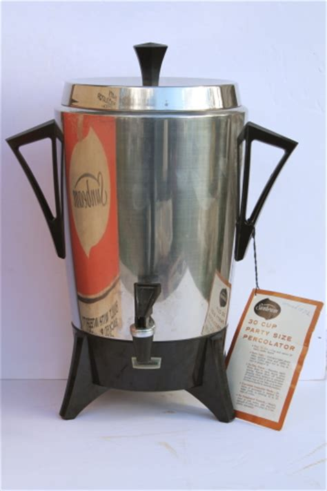 vintage sunbeam party percolator  cup pot stainless