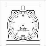 Scale Measuring Template Coloring Sketch sketch template