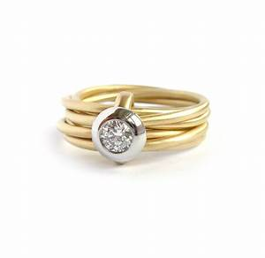 modern gold and platinum 6 band enagement wedding ring With platinum and gold wedding ring