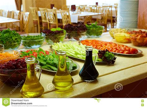 buffet bar cuisine selection of salads at a buffet bar stock photo image