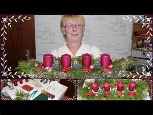 Adventskranz Ideen 2016 : diy adventsgesteck adventskranz weihnachtsdeko selber basteln mit mama youtube ~ Frokenaadalensverden.com Haus und Dekorationen