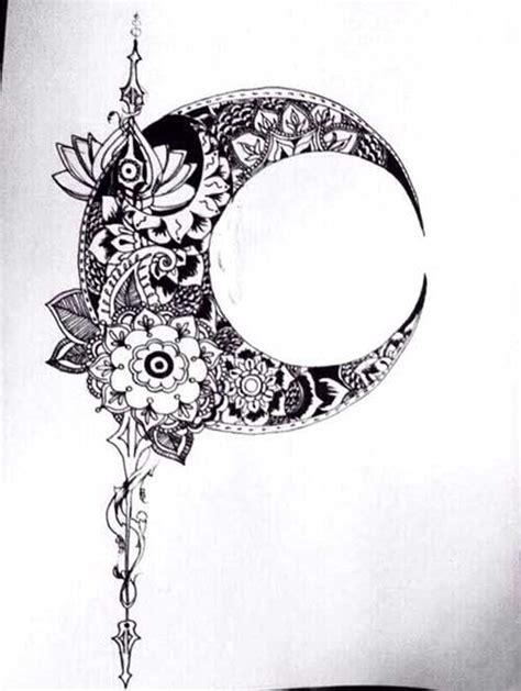 crescent moon tattoo drawing tattoo ideas tattoos tattoo drawings glyph tattoo