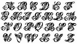 vintage clip art beautiful monogram alphabet the With vintage monogram letters