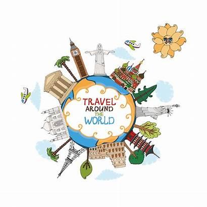 Travel Clip Clipart Global Landmark Traveling Traveller