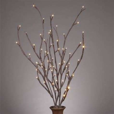 lighted willow branches contemporary home decor