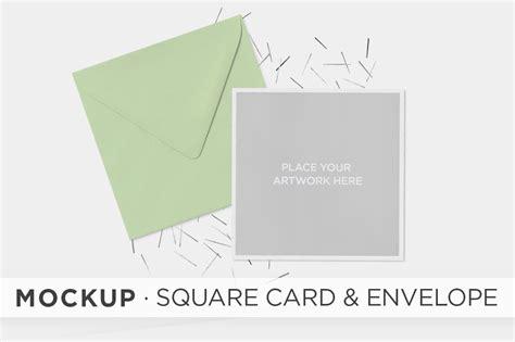 mockup square card envelope product mockups