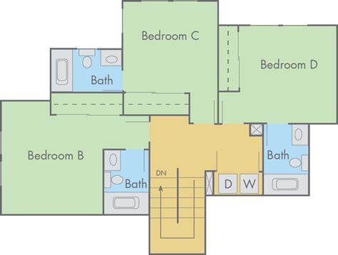 stunning  bedroom townhouse floor plans   home