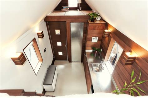 miter box modern tiny house  wheels  shelter wise llc