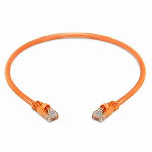 Rj45 Cat5e 350 Mhz Ethernet Network Cable  U2013 1 5feet Orange