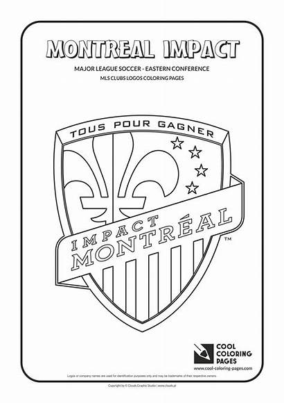 Coloring Pages Logos Soccer Montreal Impact Mls