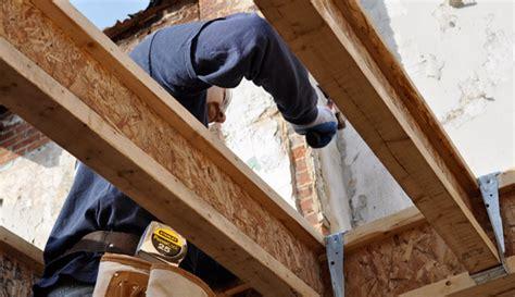 using engineered wood i beam floor joists at habitat one