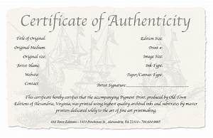 photography certificate of authenticity template With certificate of authenticity photography template