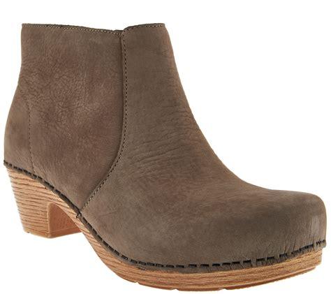 dansko nubuck clog boots maria page  qvccom