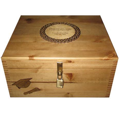 personalised engraved wooden graduation keepsake box