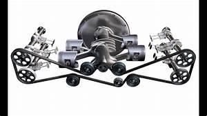 3d Engine Video - 4 Cylinder Boxer Engine - Dohc