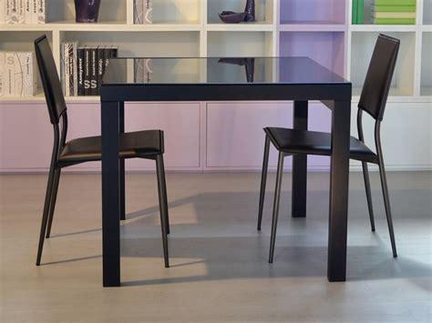 tavolo vetro nero allungabile kendy tavolo moderno in legno piano in vetro 90x90 cm
