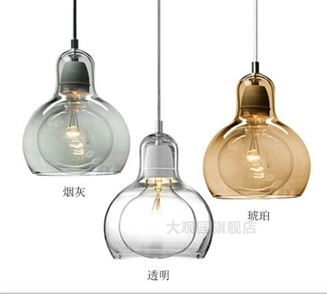 nordic brief personalized big bulb glass pendant light