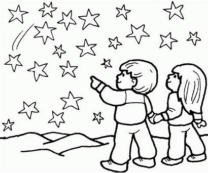 Coloring Pages Twinkle Star Night Boy Printable