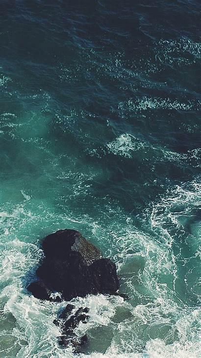 Ocean Iphone Rock Background Backgrounds Iphoneswallpapers Wallpapers
