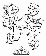 Kite Coloring Pages Spring Sheets Kites Flying Sports Printable March Activities Colouring Season Activity Children Drawing Clip Clipart Seasons Fun sketch template