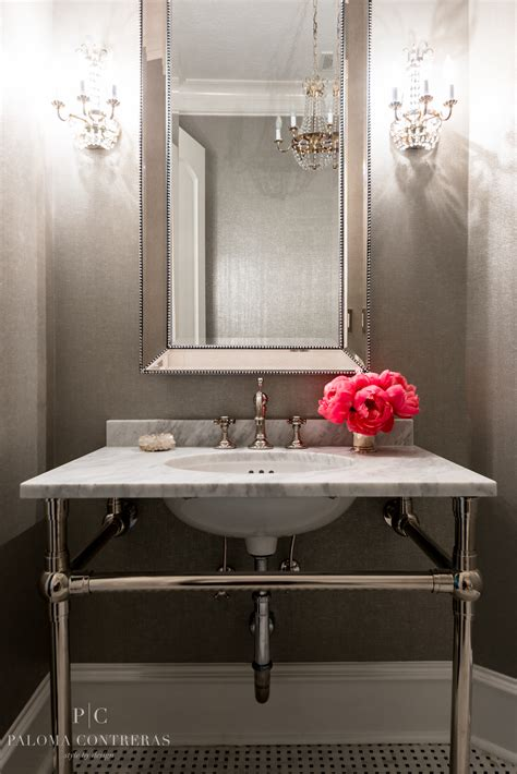 powder room mirror powder room project reveal a glamorous before and after part 2 la
