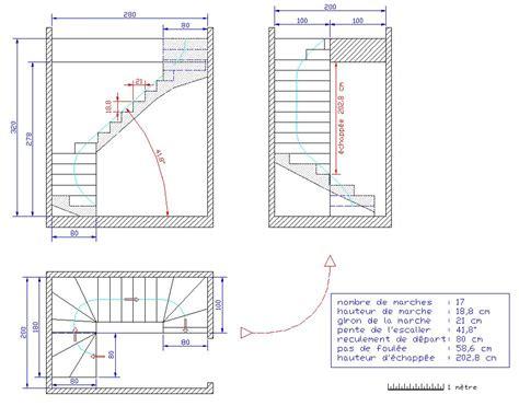 plan escalier quart tournant plans escaliers droit quart tournant haut et bas