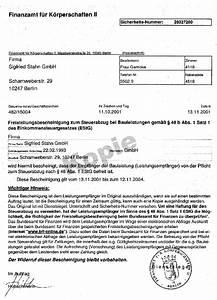 Rechnung 48 : freistellungsbescheinigung sigfried stahn gmbh ~ Themetempest.com Abrechnung