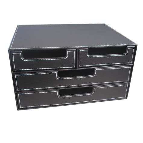 Aliexpress Com Buy 4 Drawer Black Leather Office Filing