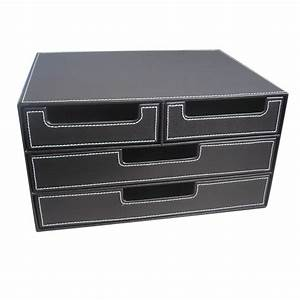 aliexpresscom buy 4 drawer black leather office filing With document organizer box