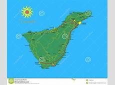 Tenerife Map Stock Photo Image 17583140