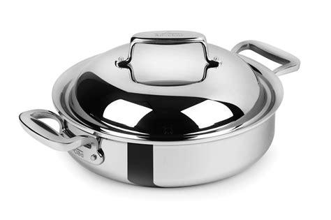 clad  stainless steel braiser  quart cutlery