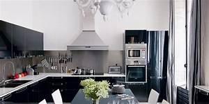 Cuisine Blanche Et Noire : cuisine noire et blanches 20 inspirations marie claire ~ Nature-et-papiers.com Idées de Décoration